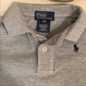 Ralph Lauren 18 months grey long sleeved polo